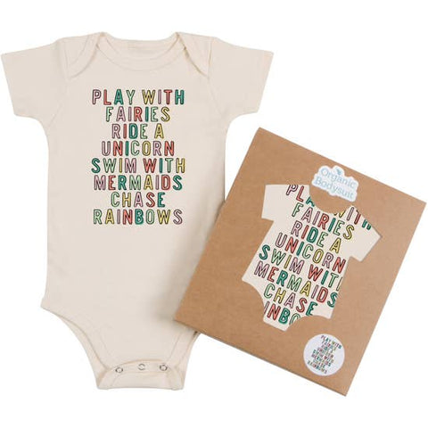 Morado Designs Organic Bodysuit/Tee - Play With Fairies - Let Them Be Little, A Baby & Children's Boutique