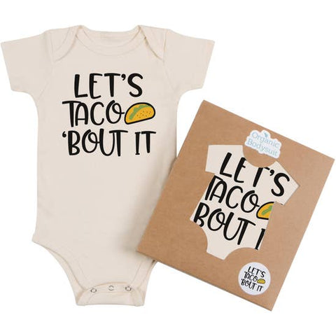Morado Designs Organic Bodysuit/Tee - Let's Taco 'Bout it - Let Them Be Little, A Baby & Children's Boutique