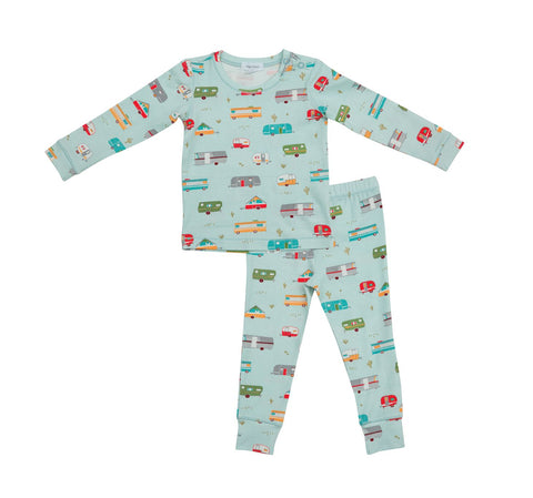 Angel Dear 2 Piece PJ Set - Happy Campers - Let Them Be Little, A Baby & Children's Boutique