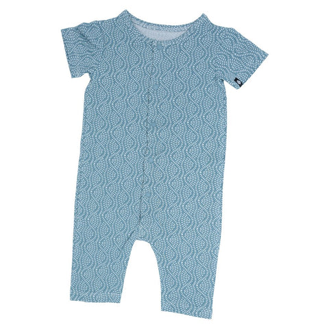 Sweet Bamboo Snap Shortall - Teal Rice Water