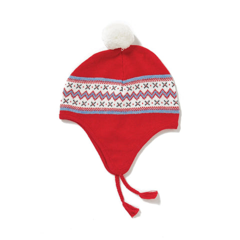Angel Dear Knit Pilot Hat - Snowflake
