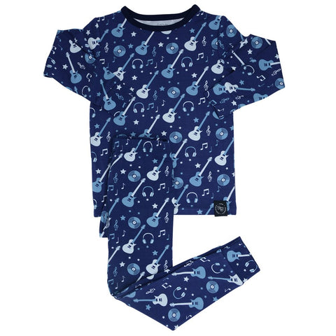 Sweet Bamboo Long Sleeve 2 Piece PJ Set - Rock-N-Roll - Let Them Be Little, A Baby & Children's Boutique