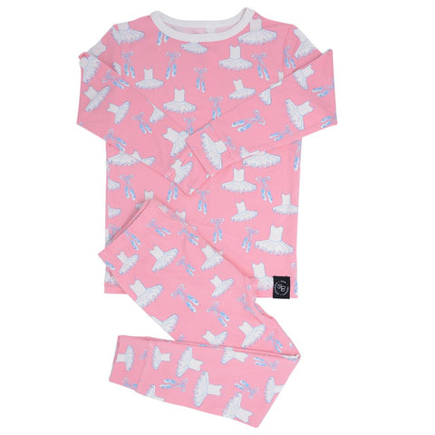 Sweet Bamboo Long Sleeve 2 Piece PJ Set - Ballet - Let Them Be Little, A Baby & Children's Boutique