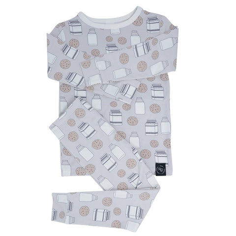 Sweet Bamboo Long Sleeve 2 Piece PJ Set - Milk & Cookies
