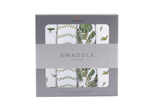 Newcastle Classics Swaddle 4 Pack - Dino Days - Let Them Be Little, A Baby & Children's Boutique