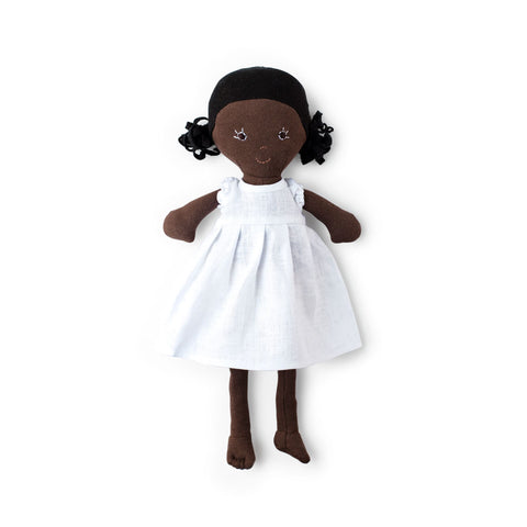 Hazel Village Doll - Ada in Snowy White Linen Dress