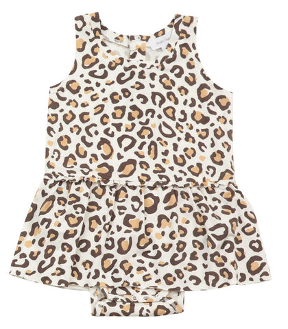 Angel Dear Sleeveless Skirted Onesie - Leopard