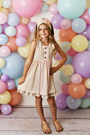 Swoon Baby Prim Tier Dress - Blush Petal SBS10