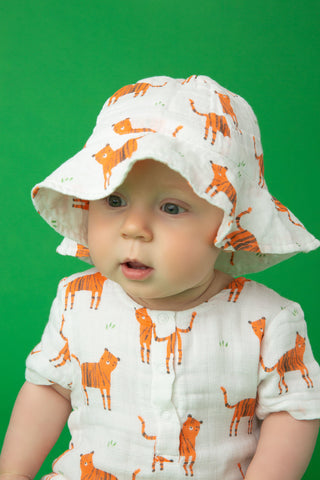Angel Dear Muslin Sunhat - Tigers - Let Them Be Little, A Baby & Children's Boutique