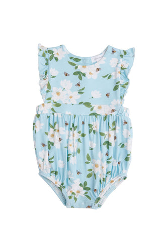 Angel Dear Ruffle Sunsuit - Magnolia Blue