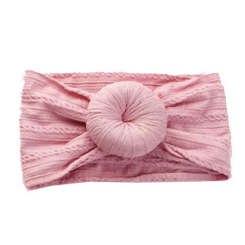 Emerson & Friends Cable Knit Bun Headband - Dusty Rose