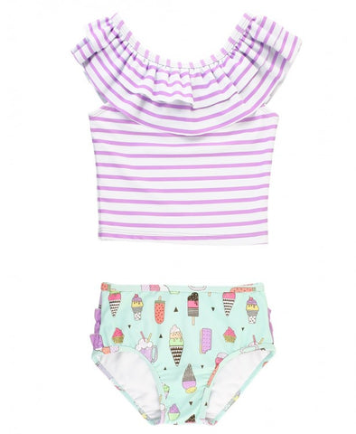RuffleButts Stripe Ruffled Tankini - Anything is Possible - Let Them Be Little, A Baby & Children's Clothing Boutique