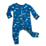 Bellabu Bear Convertible Footie - Monaco Blue
