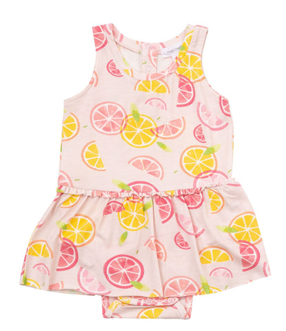 Angel Dear Sleeveless Skirted Onesie - Citrus