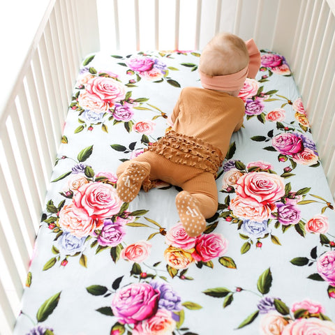 Posh Peanut Crib Sheet - Country Rose
