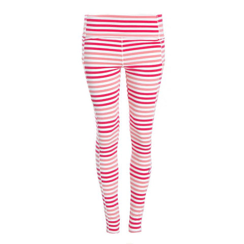 Kickee Pants Printed Luxe Leggings with Pockets - Forest Fruit Stripe