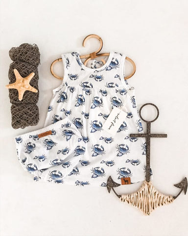 Velvet Fawn Dress Set - I'm Not Crabby - Let Them Be Little, A Baby & Children's Boutique