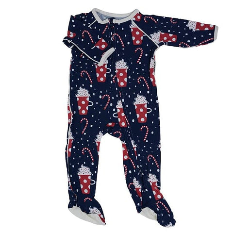 Sweet Bamboo Holiday Zipper Footie - Cocoa - Let Them Be Little, A Baby & Children's Boutique