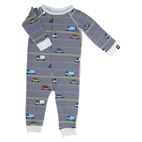 Sweet Bamboo Piped Romper - Cars 8 Bit