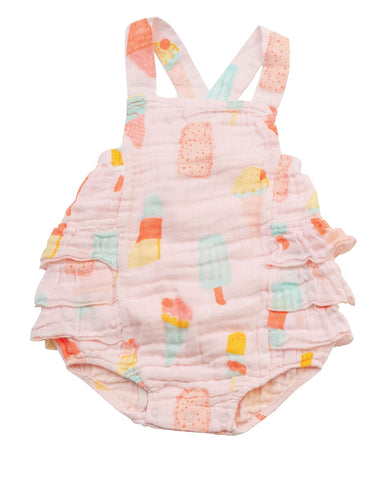 Angel Dear Ruffle Sunsuit - Cool Sweets