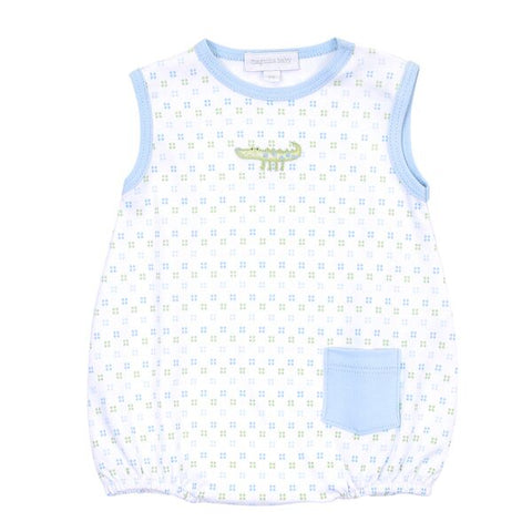 Magnolia Baby Embroidered Sleeveless Bubble - Alligator Pie