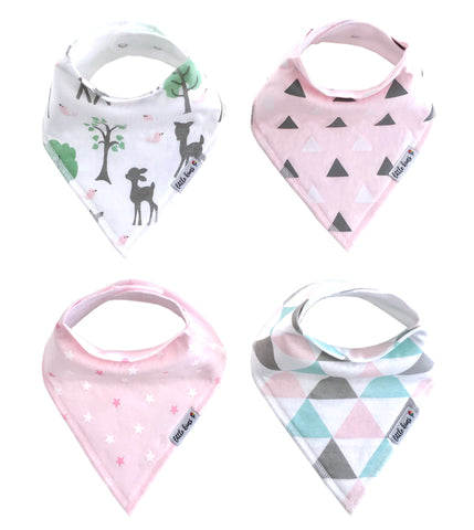 Little Kims Organic Bandana Bibs - Enchanted Forest