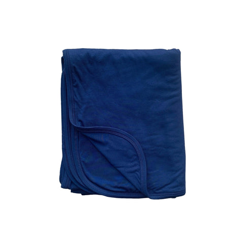 Kozi & Co Double Layer Blanket - Midnight Solid