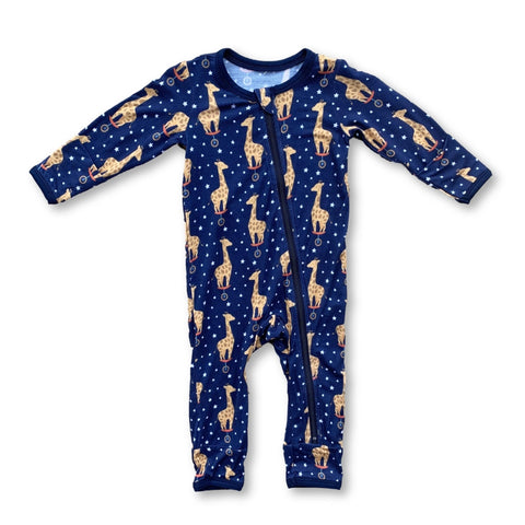 Kozi & Co Zipper Coverall - Midnight Giraffe