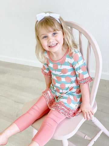 Kozi & Co Tunic Dress with Leggings Set - Cotton Candy Stripe - Let Them Be Little, A Baby & Children's Boutique