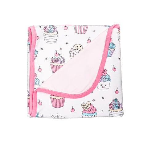 Baby Noomie Double Layer Blanket - Cupcakes