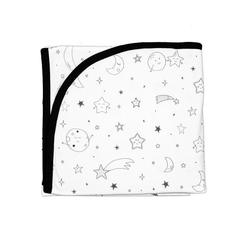 Baby Noomie Double Layer Blanket - Moon & Stars