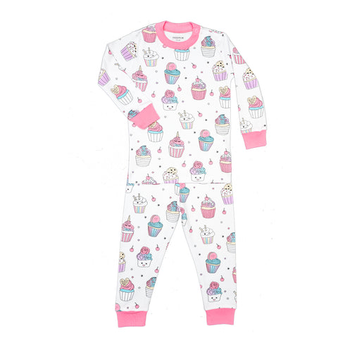 Baby Noomie 2 Piece Long Sleeve PJ Set - Cupcakes - Let Them Be Little, A Baby & Children's Boutique