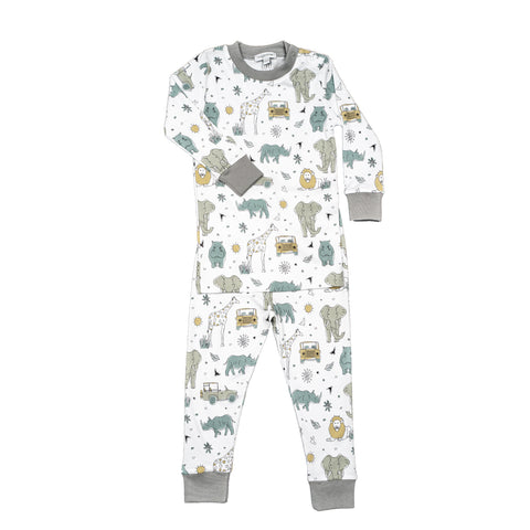Baby Noomie 2 Piece Long Sleeve PJ Set - Safari - Let Them Be Little, A Baby & Children's Boutique