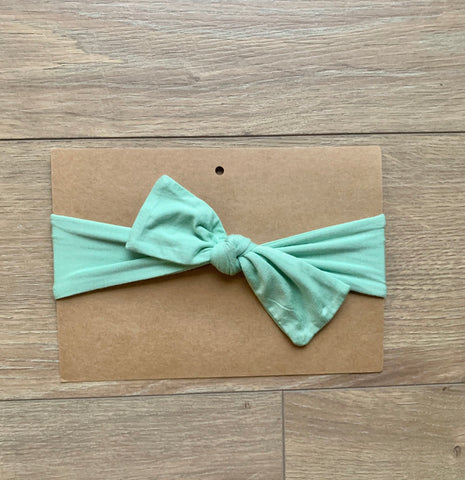 Kozi & Co Tie Bow Headband - Grasshopper Green