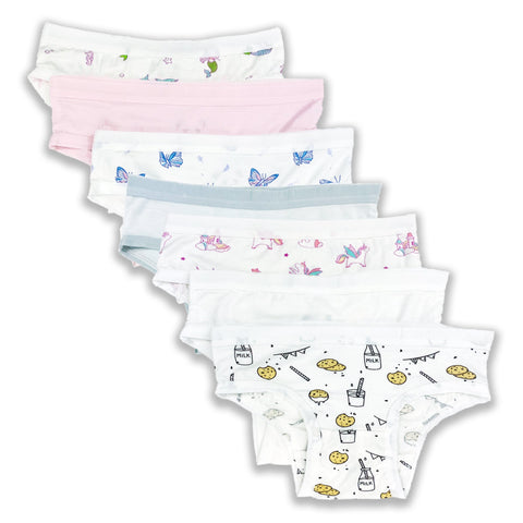 Bellabu Bear Girl's Underwear - Variety 7-pack