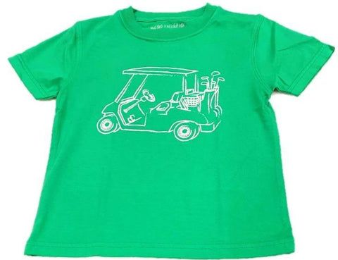 Mustard & Ketchup Kids Short Sleeve Tee - Green Golf Cart