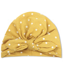 Emerson & Friends Knotted Turban - Mustard Polka Dot