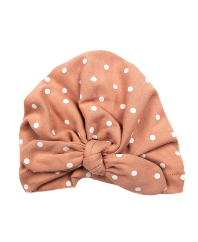 Emerson & Friends Knotted Turban - Rose Polka Dot