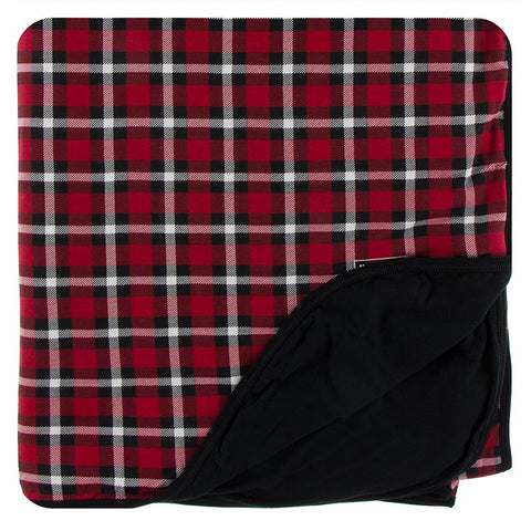 Kickee Pants Printed Double Layer Throw Blanket - Crimson 2020 Holiday Plaid