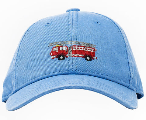 Harding Lane Kids Hat - Firetruck on Light Blue