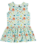 Bird & Bean Tank Dress - Under the Sea - Let Them Be Little, A Baby & Children's Boutique