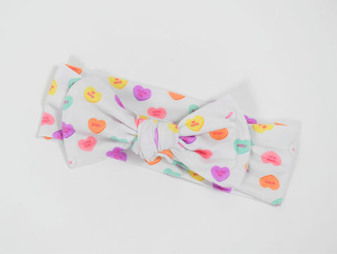 Macaron + Me Bow Headband - Candy Hearts - Let Them Be Little, A Baby & Children's Boutique
