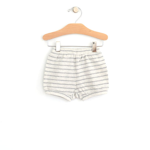 City Mouse Bubble Shorts - Melange Stripe