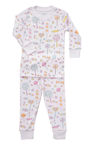 Baby Noomie 2 Piece PJ Set - Lollipops