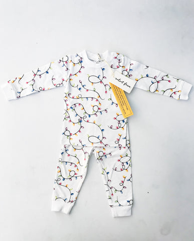 Velvet Fawn Long Sleeve PJ Set - Christmas Lights