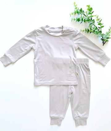 Kozi & Co Essentials Long Sleeve PJ Set - Cool Sand