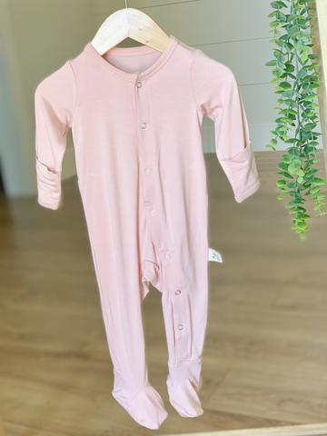 Kozi & Co Essentials Footed Pajama - Peony Pink
