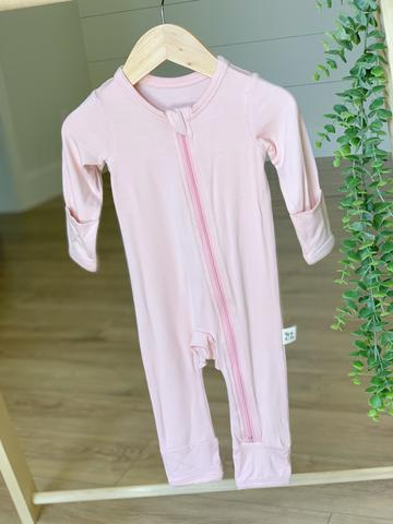 Kozi & Co Essentials Zipper Coverall - Peony Pink