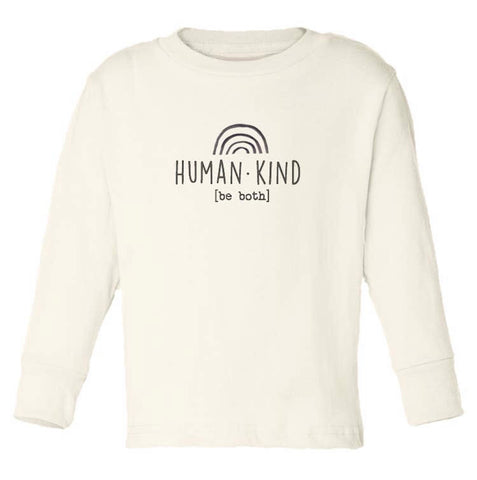Tenth & Pine Long Sleeve Organic Tee - Human Kind Be Both