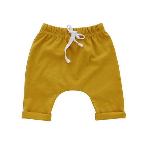 Emerson & Friends Cotton Baby Joggers - Mustard